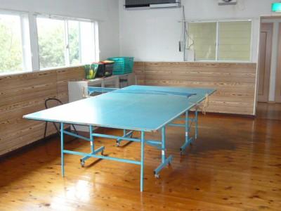 宿舎には卓球室があります♪カコンカコンと心地よい音を聞きながら、汗を流してストレス発散!合宿中の気分転換にご利用ください!
