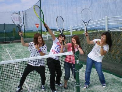 オムニコートでテニス♪