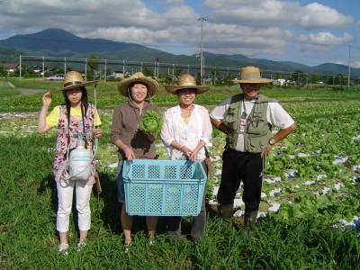 合宿中の3日間、農家に泊まって農業体験もできます!(要予約・無料)