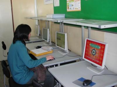 自習用のパソコン