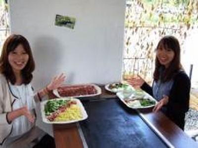 新潟の大自然に囲まれて食べるご飯は最高です♪