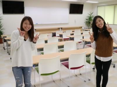新しく広くなった学科教室