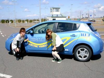 電気自動車体験できちゃいます!
